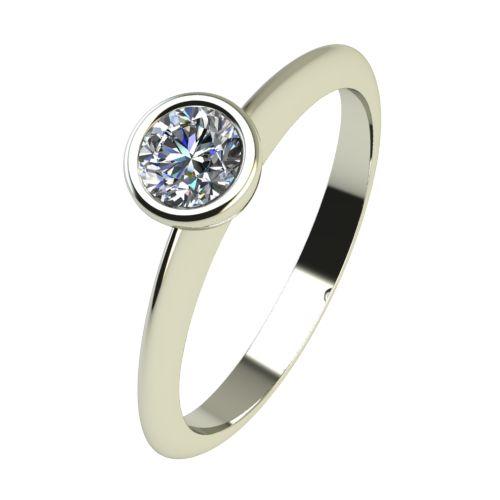 Годежен Пръстен бяло злато с диамант Moon 0,17 ct. 2225