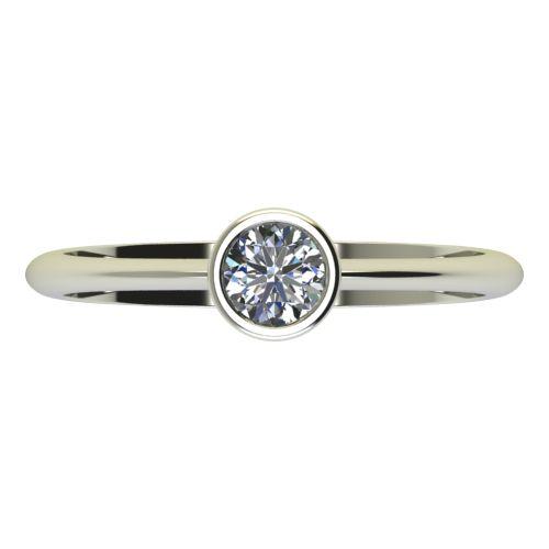 Годежен Пръстен бяло злато с диамант Moon 0,25 ct. 2226 a