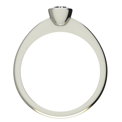 Годежен Пръстен бяло злато с диамант Moon 0,25 ct. 2226 b