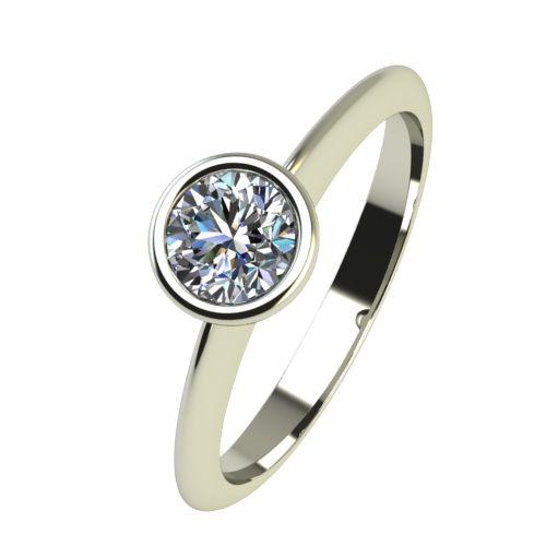 Годежен Пръстен бяло злато с диамант Moon 0,25 ct. 2226