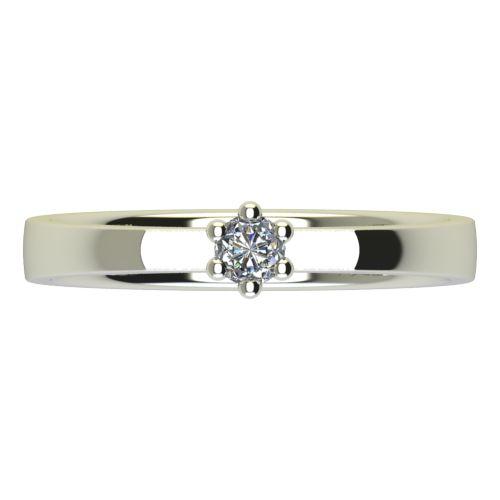 Годежен Пръстен бяло злато с диамант Piece 0,04 ct. 2214 a