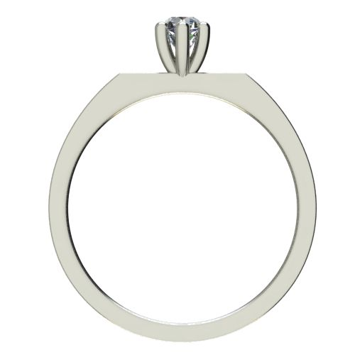 Годежен Пръстен бяло злато с диамант Piece 0,04 ct. 2214 b