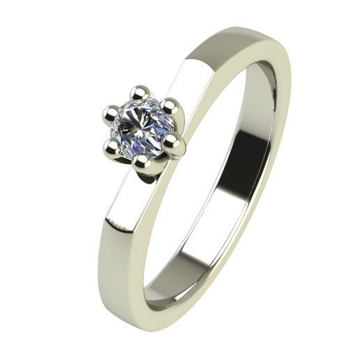 Годежен Пръстен бяло злато с диамант Piece 0,04 ct. 2214