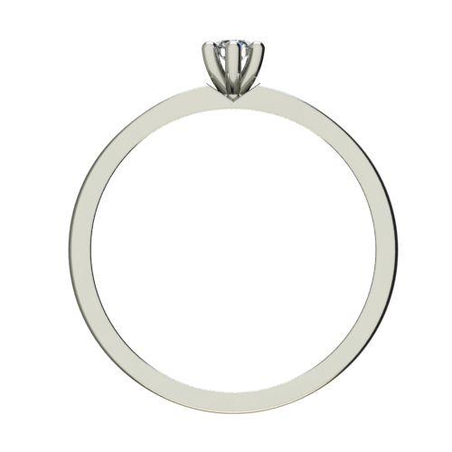 Годежен Пръстен бяло злато с диамант Piece 0,12 ct. 2242 b