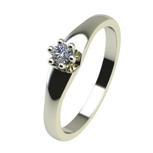 Годежен Пръстен бяло злато с диамант Piece 0,04 ct. 2240