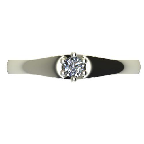 Годежен Пръстен бяло злато с диамант Piece 0,07 ct. 2241 a