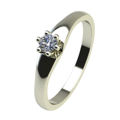 Годежен Пръстен бяло злато с диамант Piece 0,07 ct. 2241