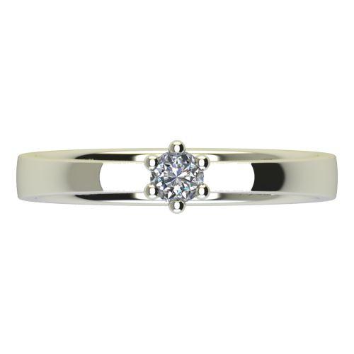 Годежен Пръстен бяло злато с диамант Piece 0,12 ct. 2216 a