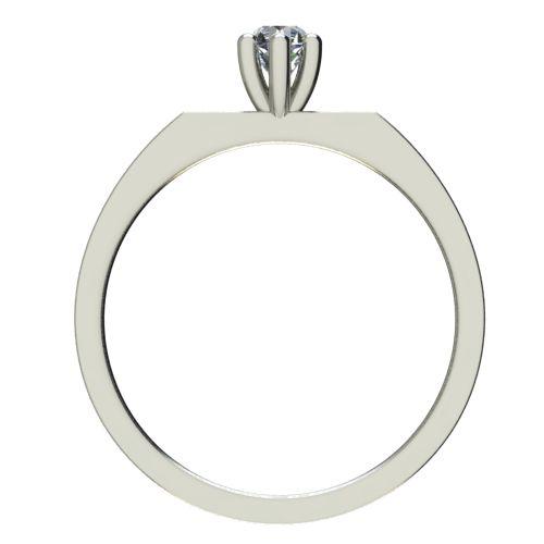 Годежен Пръстен бяло злато с диамант Piece 0,12 ct. 2216 b