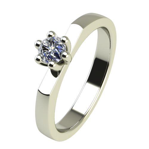 Годежен Пръстен бяло злато с диамант Piece 0,12 ct. 2216