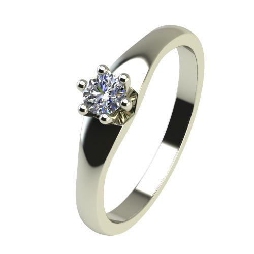 Годежен Пръстен бяло злато с диамант Piece 0,12 ct. 2242