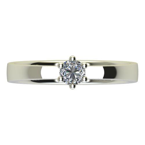 Годежен Пръстен бяло злато с диамант Piece 0,17 ct. 2217 a
