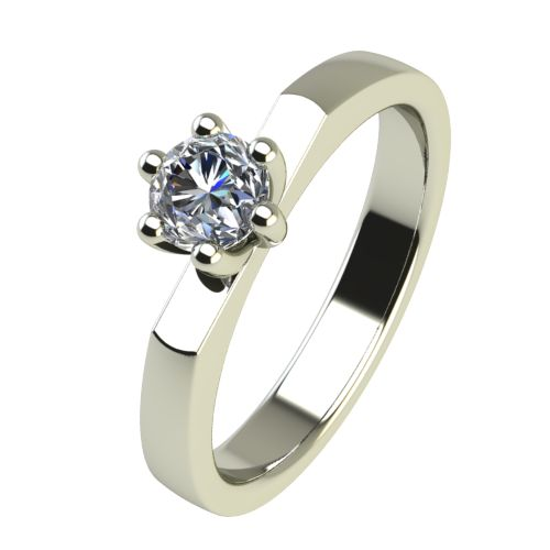 Годежен Пръстен бяло злато с диамант Piece 0,17 ct. 2217