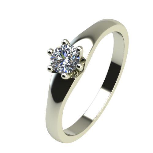 Годежен Пръстен бяло злато с диамант Piece 0,17 ct. 2243