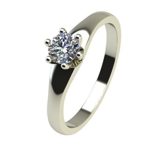 Годежен Пръстен бяло злато с диамант Piece 0,25 ct. 2244