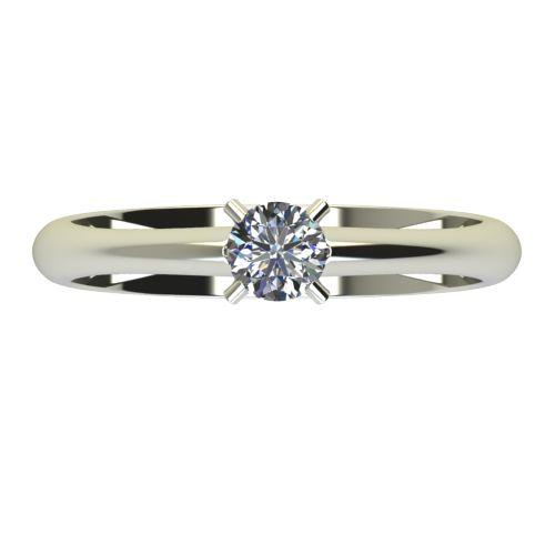 Годежен Пръстен бяло злато с диамант Piece 0,25 ct. 2254 a