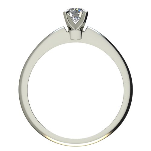 Годежен Пръстен бяло злато с диамант Piece 0,25 ct. 2254 b