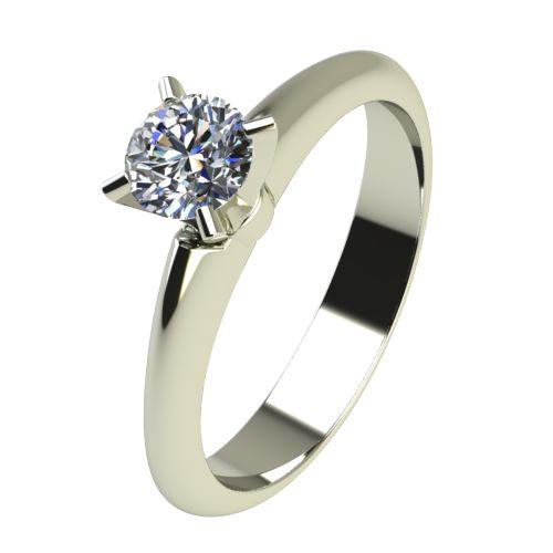 Годежен Пръстен бяло злато с диамант Piece 0,25 ct. 2254