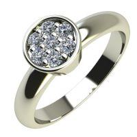 Годежен Пръстен бяло злато с диамант Snowy 0,105 ct. 2221