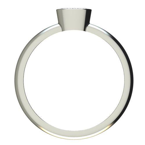 Годежен Пръстен бяло злато с диамант Snowy 0,105 ct. 2221 b