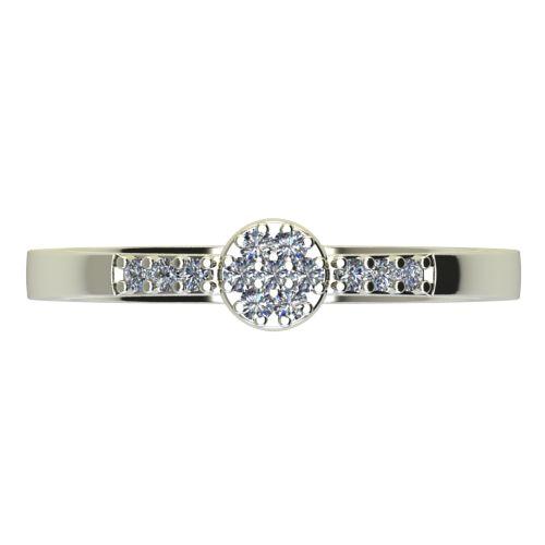 Годежен Пръстен бяло злато с диамант Snowy 0,13 ct. 2233 a