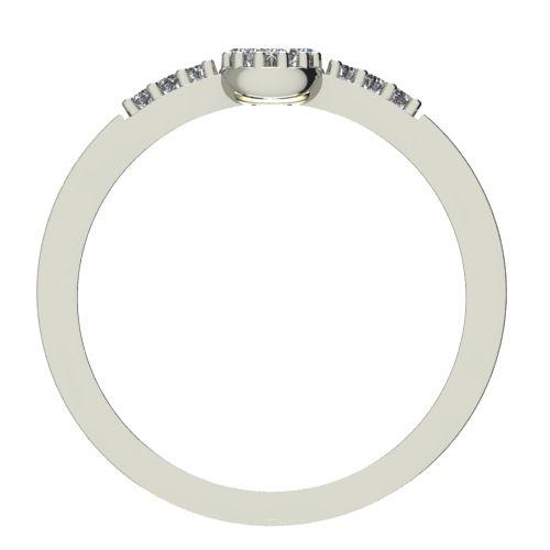 Годежен Пръстен бяло злато с диамант Snowy 0,13 ct. 2233 b