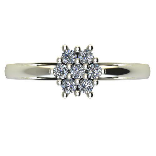 Годежен Пръстен бяло злато с диамант Snowy 0,13 ct. 2239 a