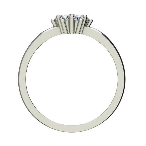 Годежен Пръстен бяло злато с диамант Snowy 0,13 ct. 2239 b