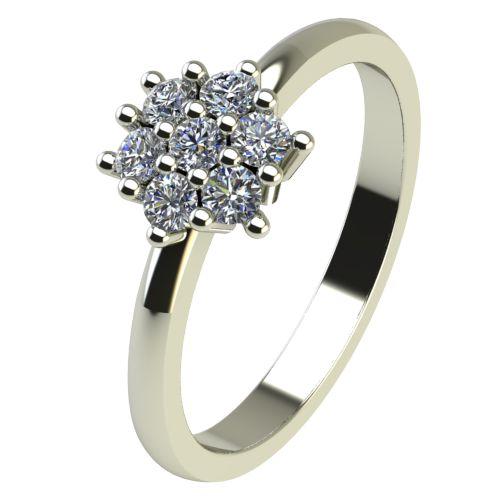 Годежен Пръстен бяло злато с диамант Snowy 0,13 ct. 2239