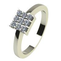 Годежен Пръстен бяло злато с диамант Snowy 0,135 ct. 2219