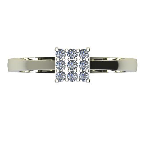 Годежен Пръстен бяло злато с диамант Snowy 0,135 ct. 2219 a