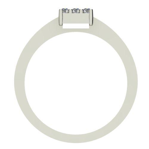 Годежен Пръстен бяло злато с диамант Snowy 0,135 ct. 2219 b