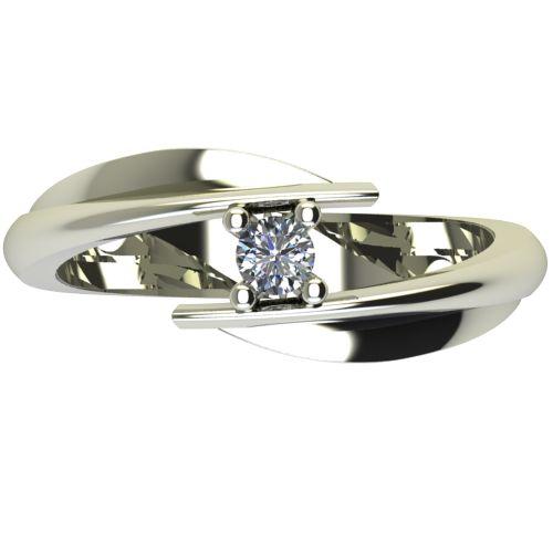 Годежен Пръстен бяло злато с диамант Date 0,04 ct. 2265 a