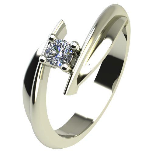 Годежен Пръстен бяло злато с диамант Date 0,04 ct. 2265