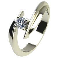 Годежен Пръстен бяло злато с диамант Date 0,07 ct. 2266