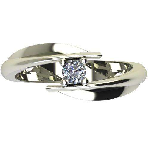 Годежен Пръстен бяло злато с диамант Date 0,12 ct. 2267 a