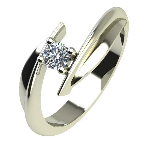 Годежен Пръстен бяло злато с диамант Date 0,12 ct. 2267
