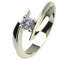 Годежен Пръстен бяло злато с диамант Date 0,17 ct. 2268