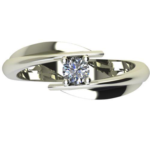 Годежен Пръстен бяло злато с диамант Date 0,17 ct. 2268 a