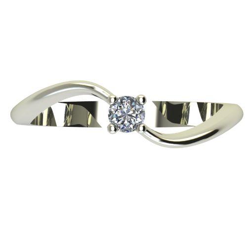 Годежен Пръстен бяло злато с диамант Eight 0,04 ct. 2275 a