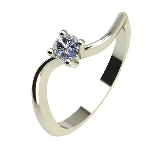 Годежен Пръстен бяло злато с диамант Eight 0,04 ct. 2275