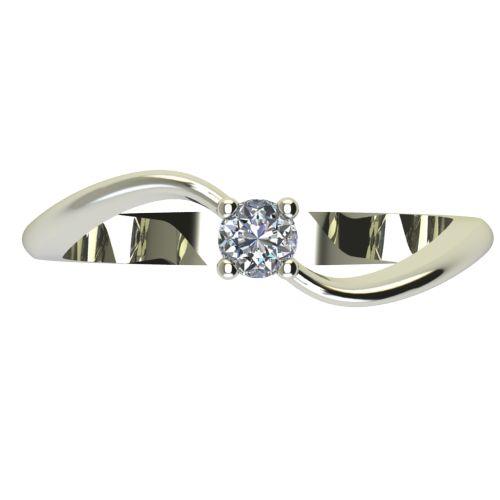 Годежен Пръстен бяло злато с диамант Eight 0,07 ct. 2276 a