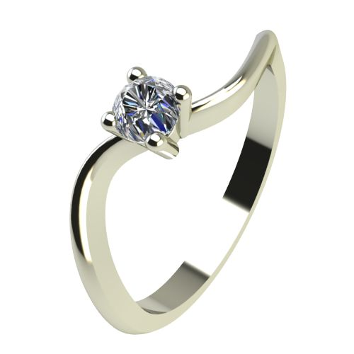 Годежен Пръстен бяло злато с диамант Eight 0,07 ct. 2276