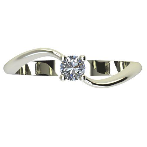 Годежен Пръстен бяло злато с диамант Eight 0,12 ct. 2277 a