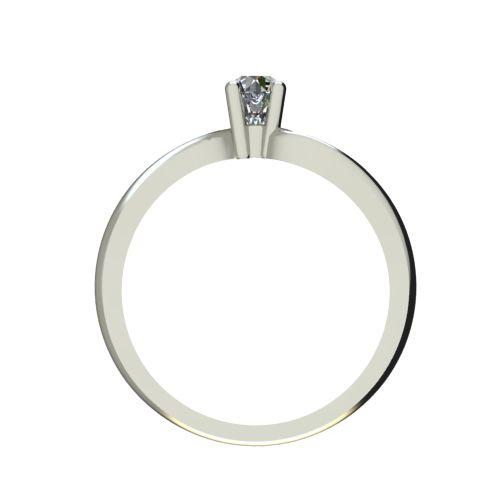 Годежен Пръстен бяло злато с диамант Eight 0,12 ct. 2277 b
