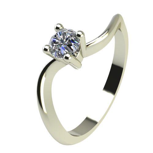 Годежен Пръстен бяло злато с диамант Eight 0,12 ct. 2277
