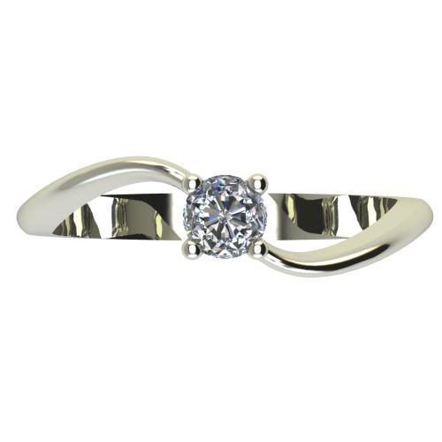 Годежен Пръстен бяло злато с диамант Eight 0,17 ct. 2278 a