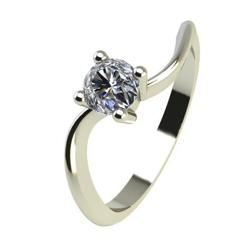 Годежен Пръстен бяло злато с диамант Eight 0,17 ct. 2278
