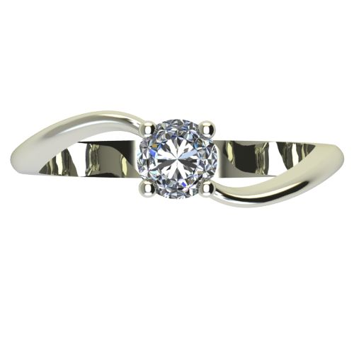 Годежен Пръстен бяло злато с диамант Eight 0,25 ct. 2279 a