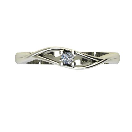 Годежен Пръстен бяло злато с диамант Eyes 0,04 ct. 2270 a